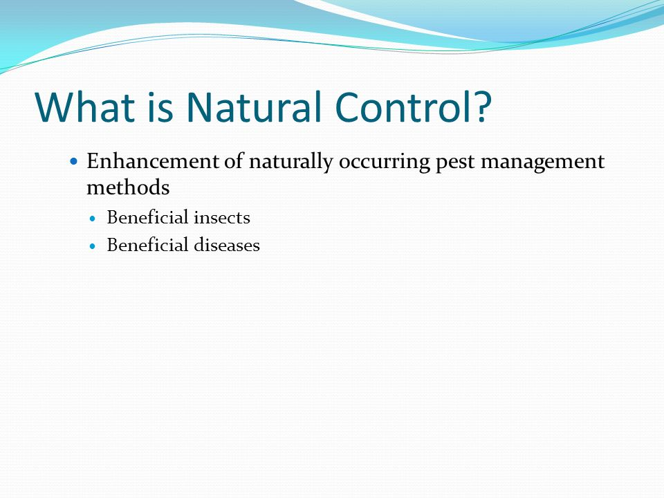 What is Natural Control