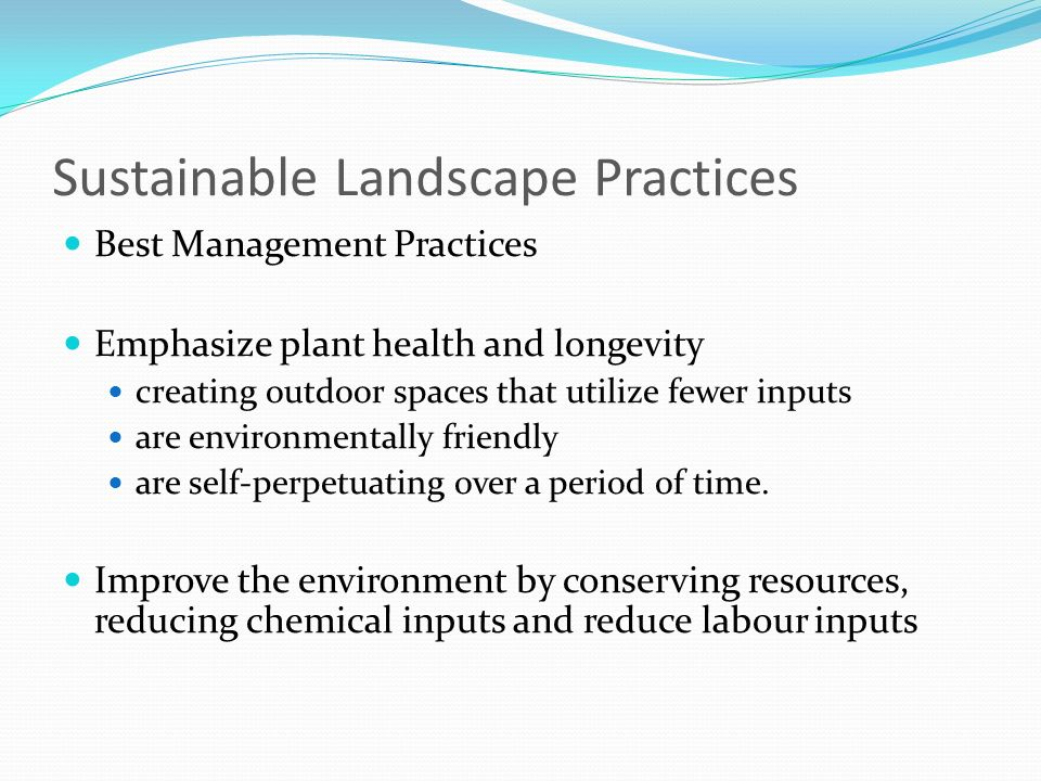 Sustainable Landscape Practices