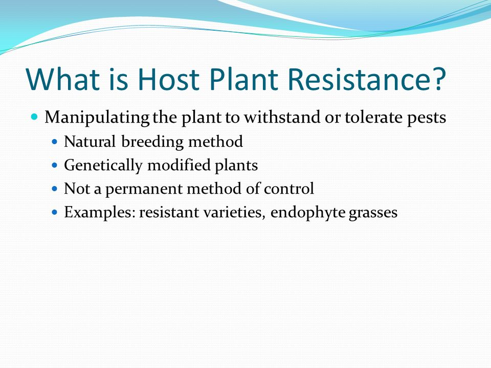 What is Host Plant Resistance
