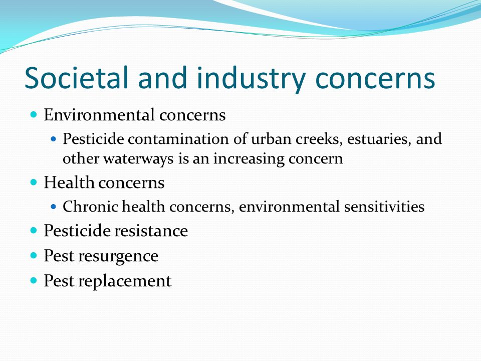 Societal and industry concerns