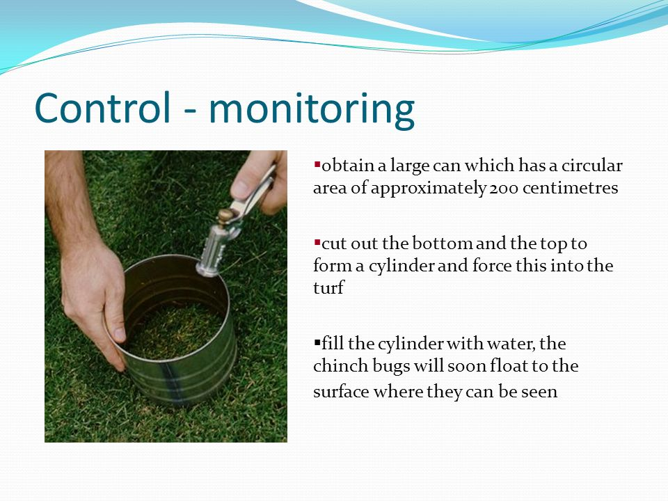 Control - monitoring obtain a large can which has a circular area of approximately 200 centimetres.