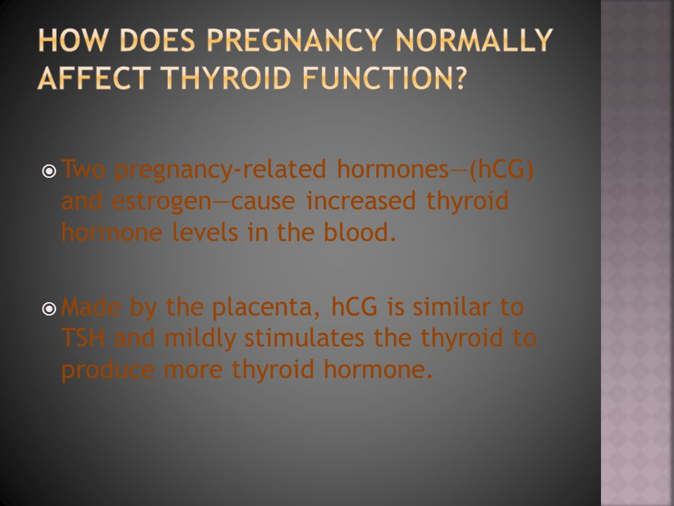 How does pregnancy normally affect thyroid function