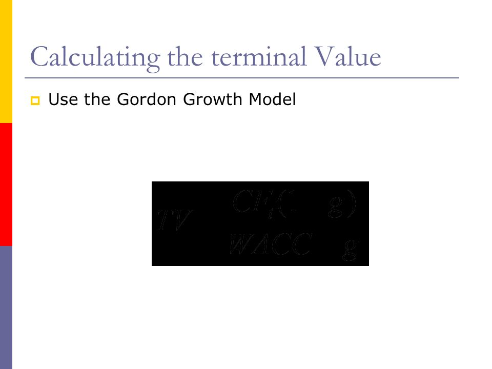 Calculating the terminal Value