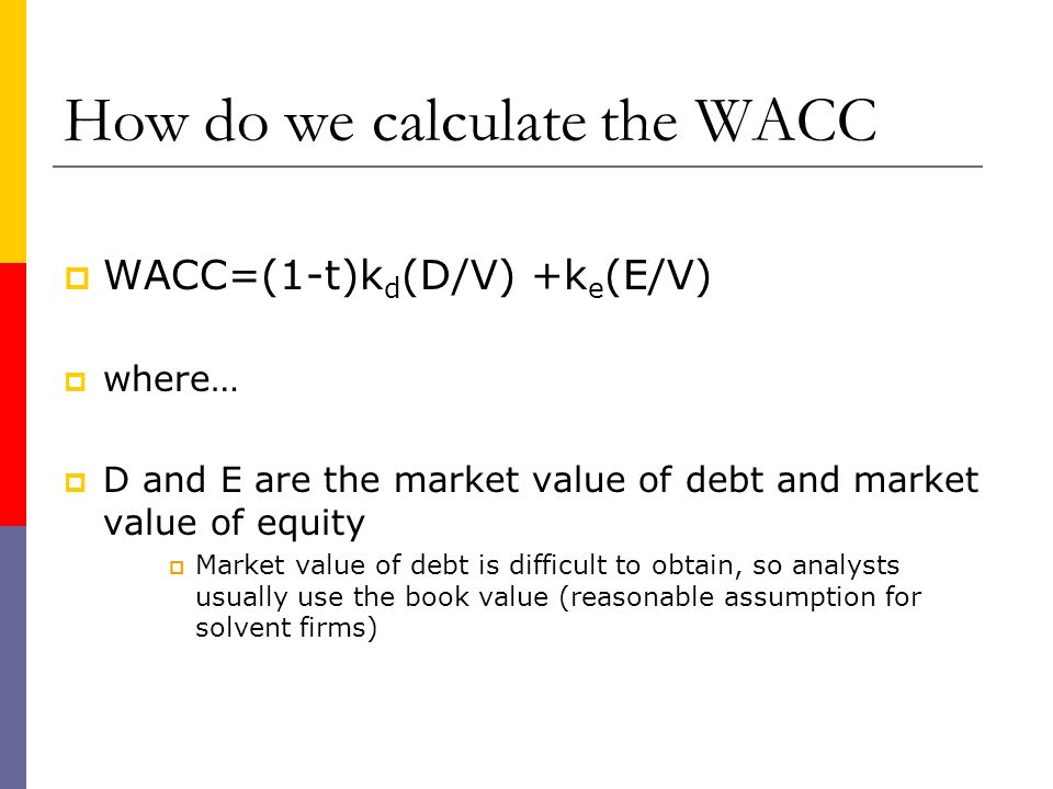 How do we calculate the WACC