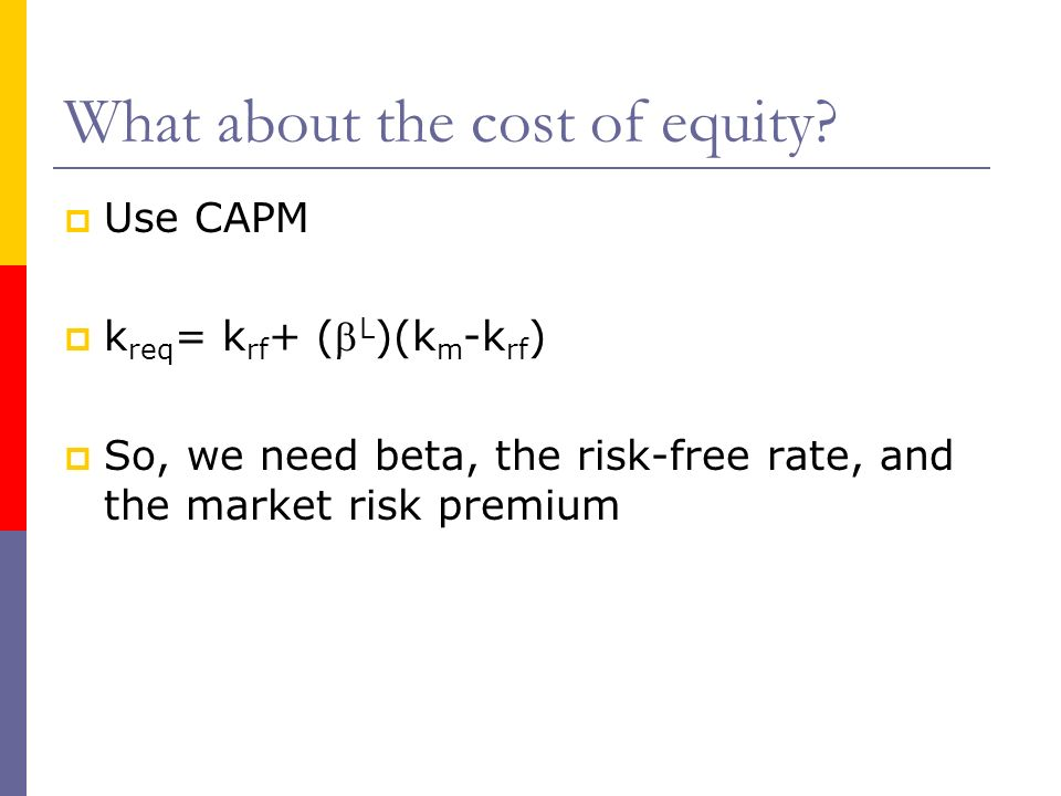 What about the cost of equity