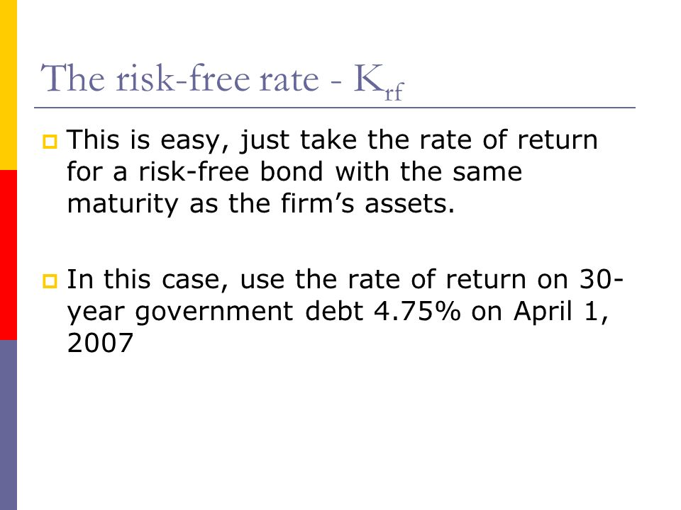 The risk-free rate - Krf