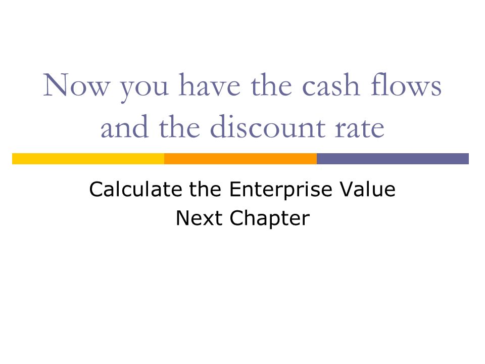 Now you have the cash flows and the discount rate