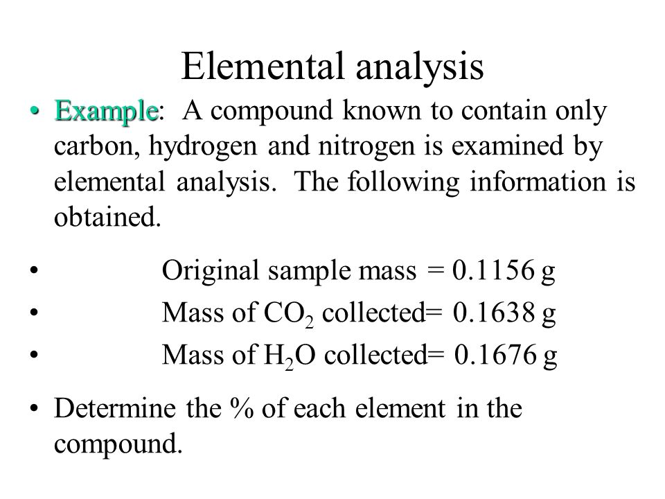 Elemental analysis