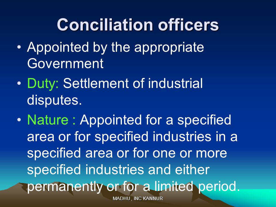 Conciliation officers