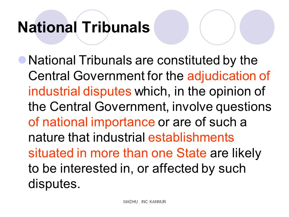 National Tribunals