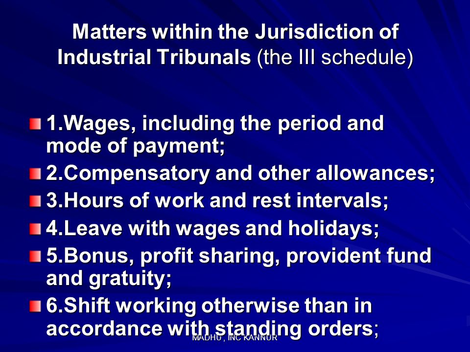 1.Wages, including the period and mode of payment;