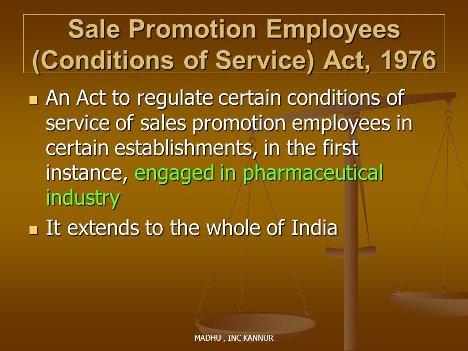 Sale Promotion Employees (Conditions of Service) Act, 1976