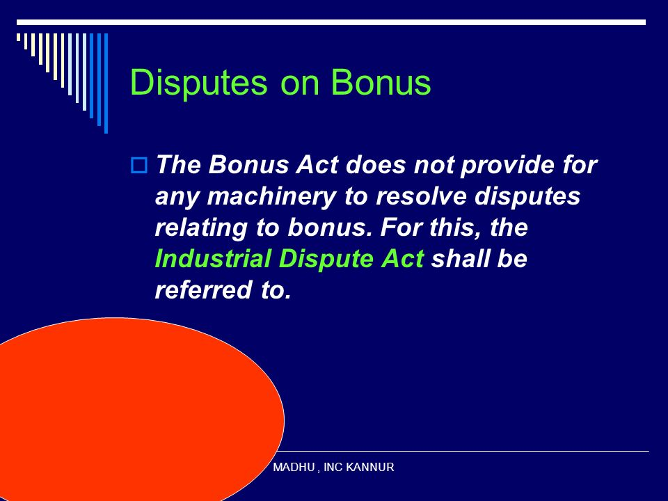 Disputes on Bonus