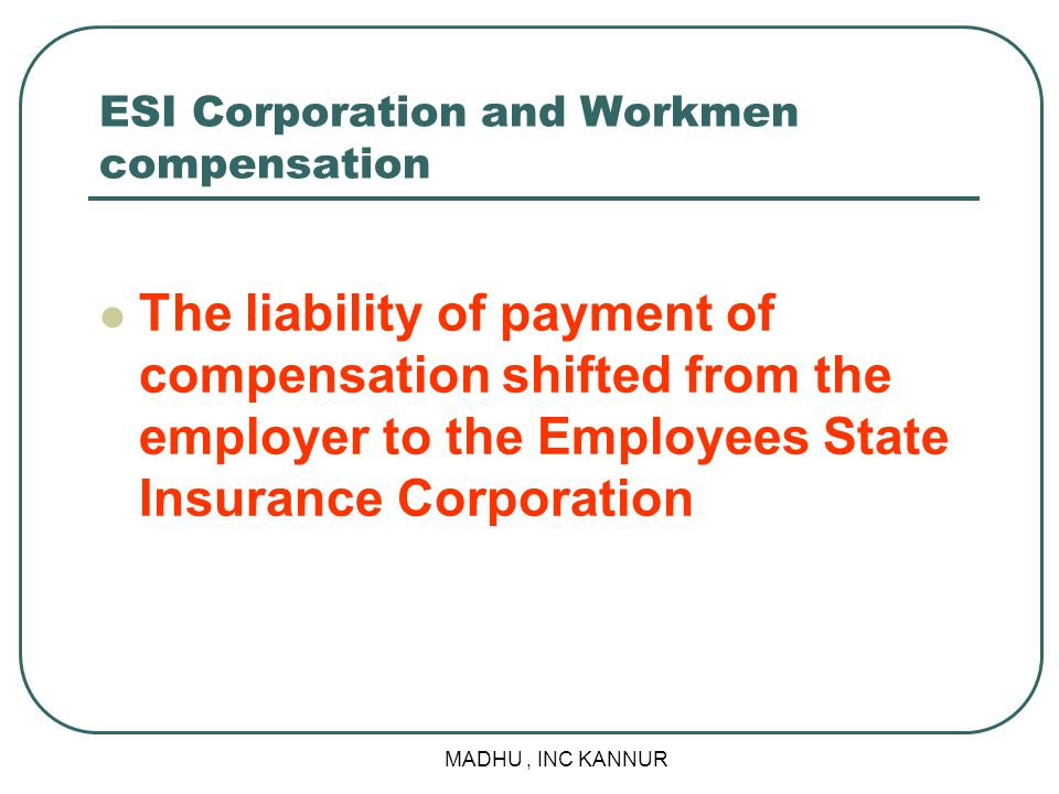 ESI Corporation and Workmen compensation