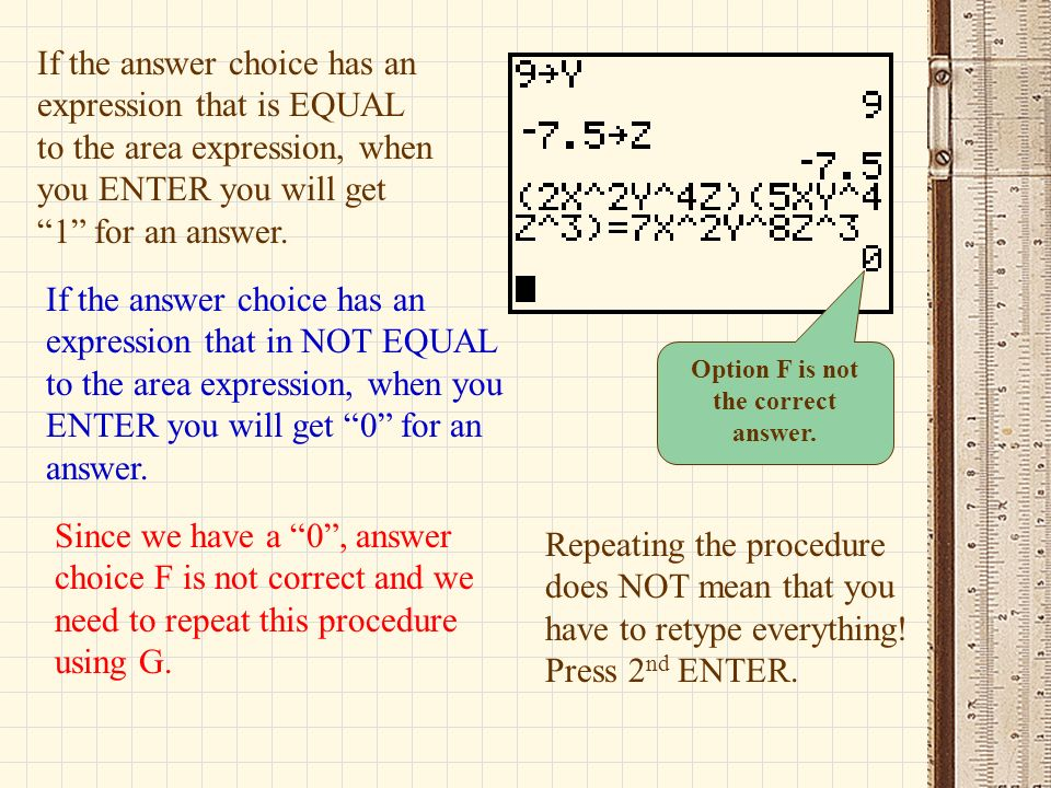 Option F is not the correct answer.