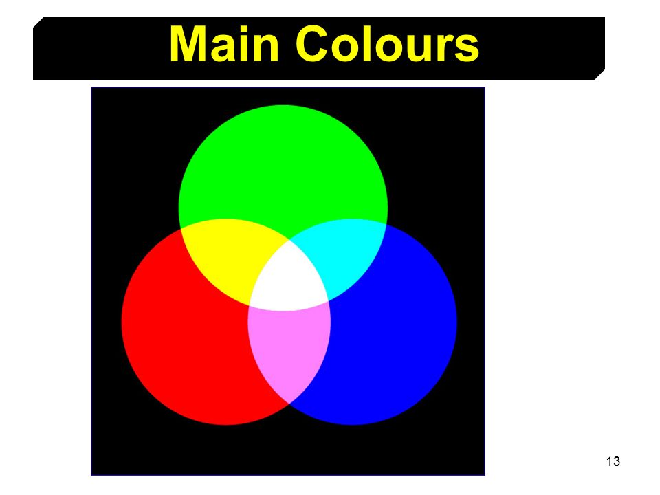 Main Colours