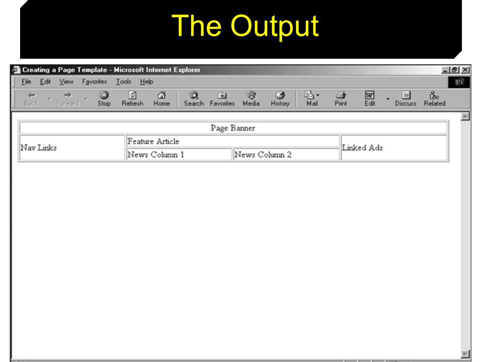 The Output