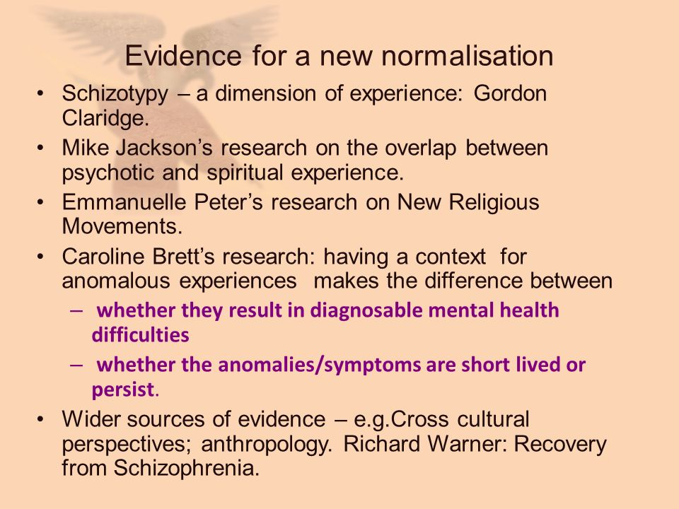 Evidence for a new normalisation