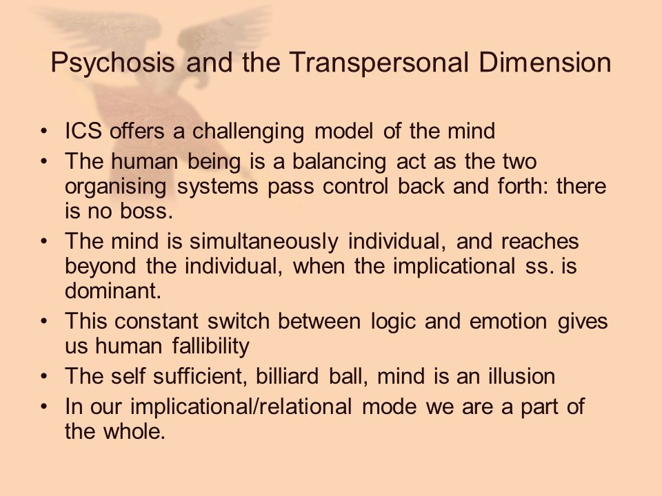 Psychosis and the Transpersonal Dimension