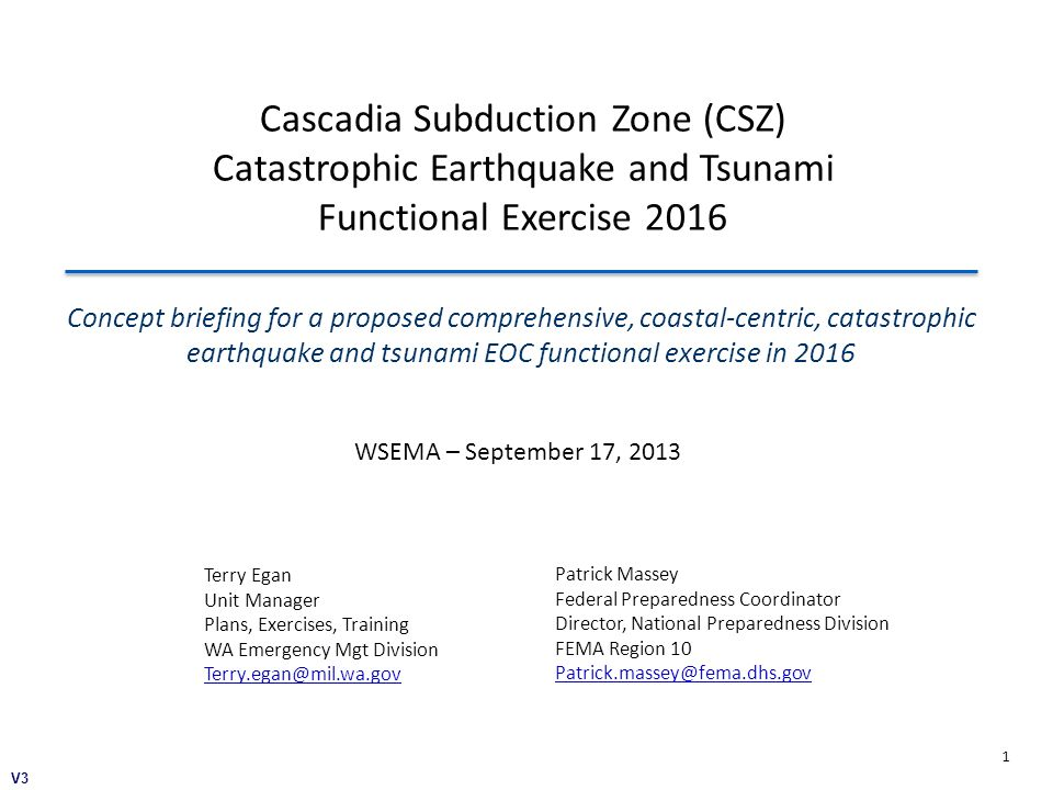 Cascadia Subduction Zone (CSZ) Catastrophic Earthquake and Tsunami