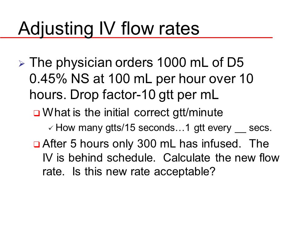 Adjusting IV flow rates