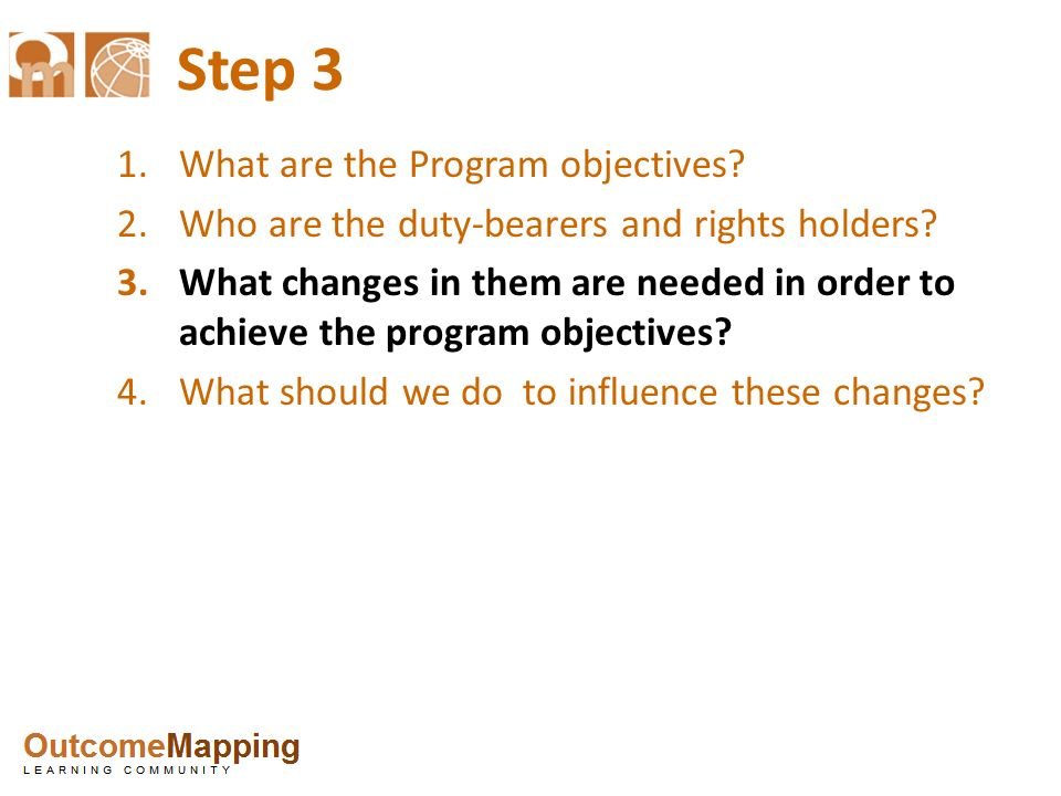 Step 3 What are the Program objectives