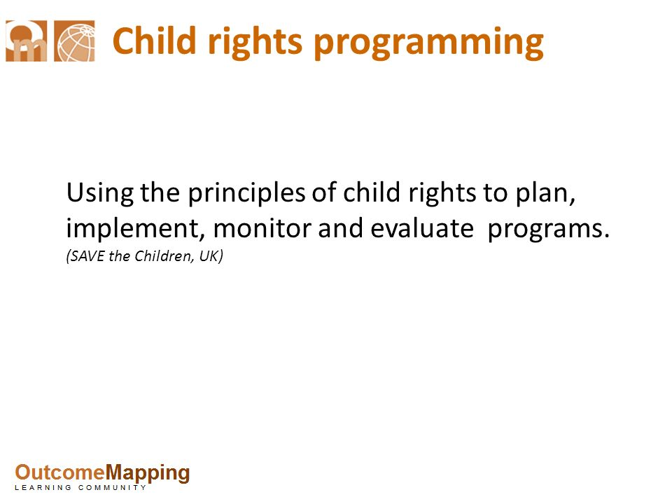 Child rights programming