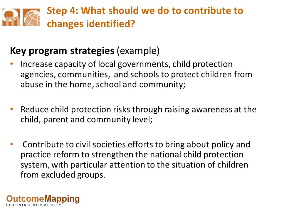 Step 4: What should we do to contribute to changes identified