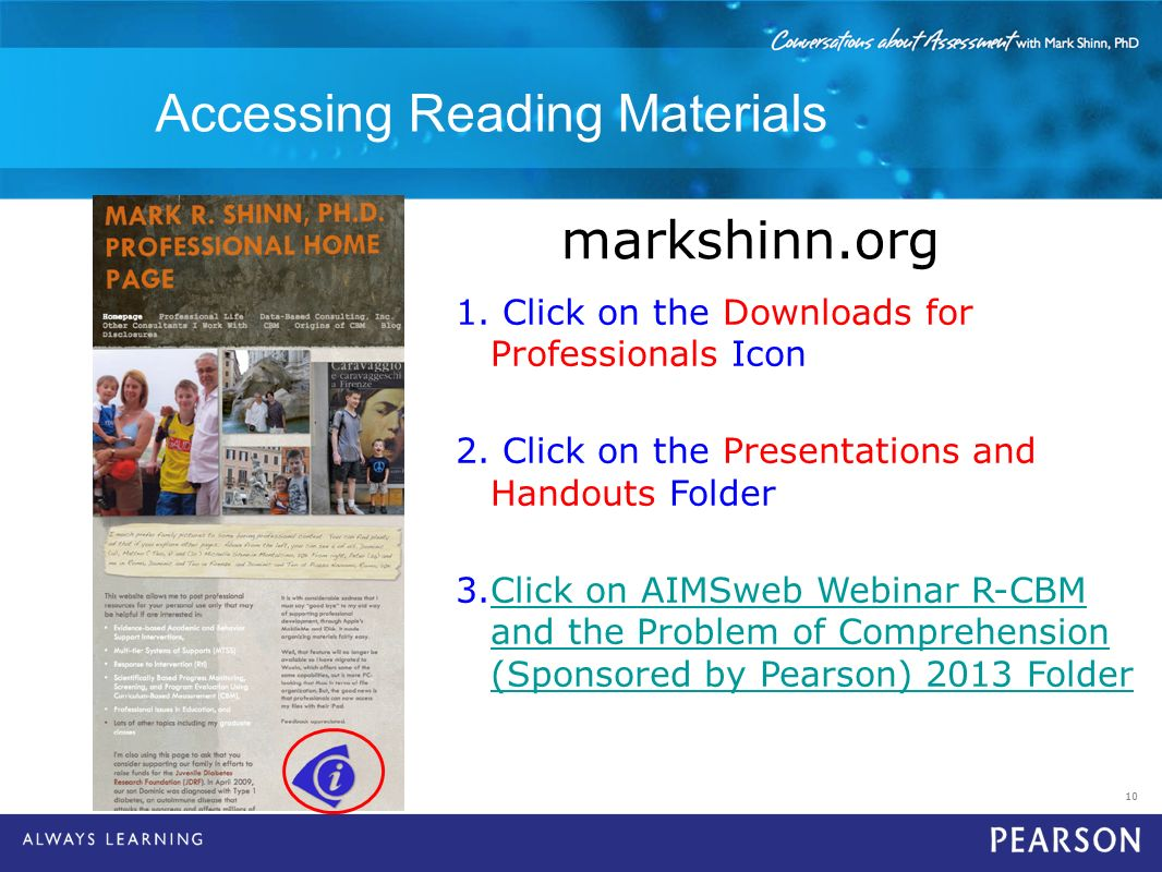 Accessing Reading Materials