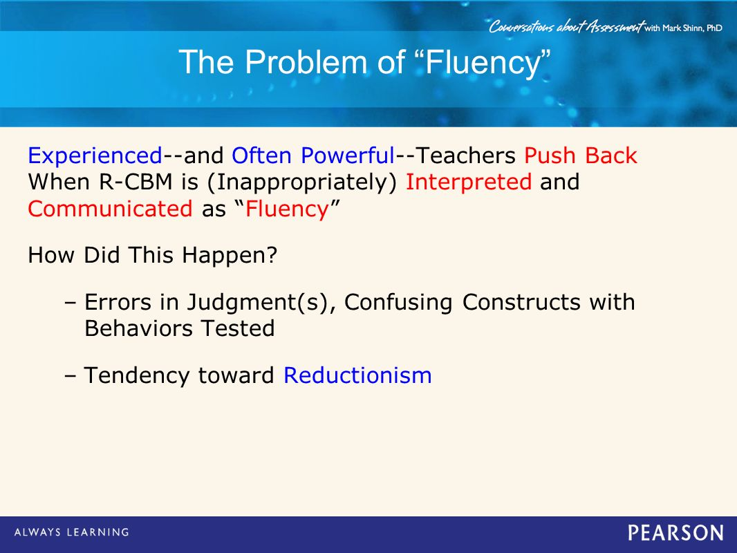 The Problem of Fluency