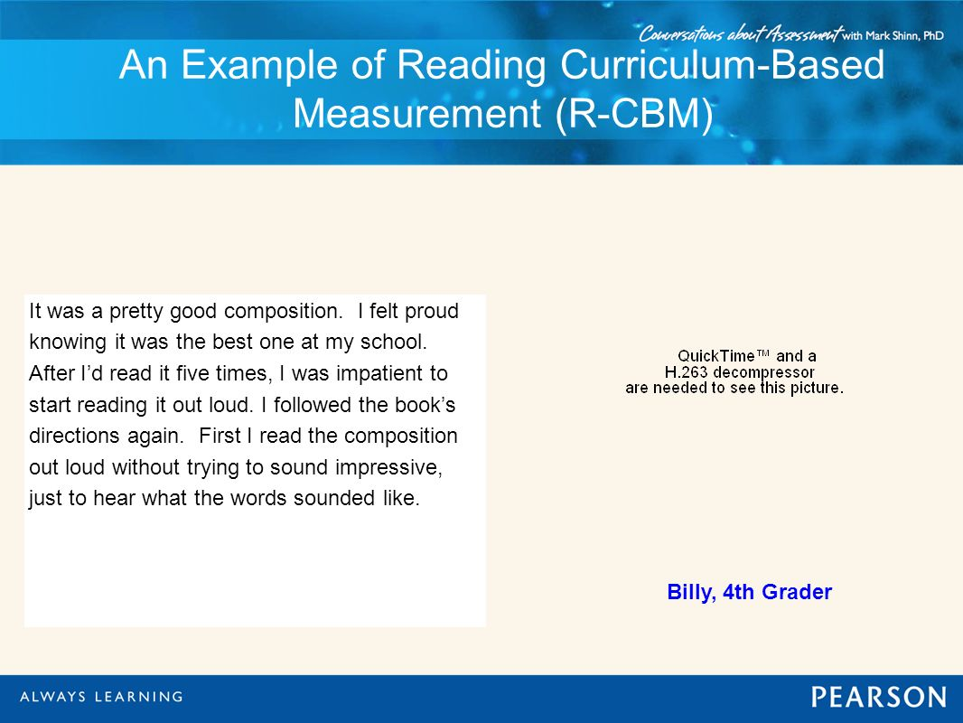An Example of Reading Curriculum-Based Measurement (R-CBM)