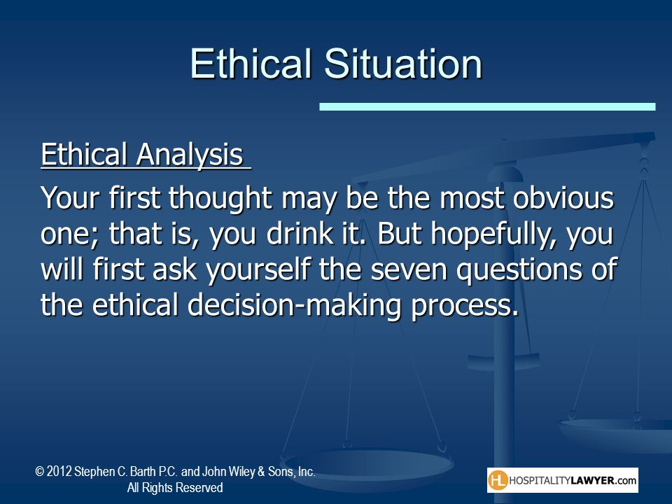 Ethical Situation Ethical Analysis