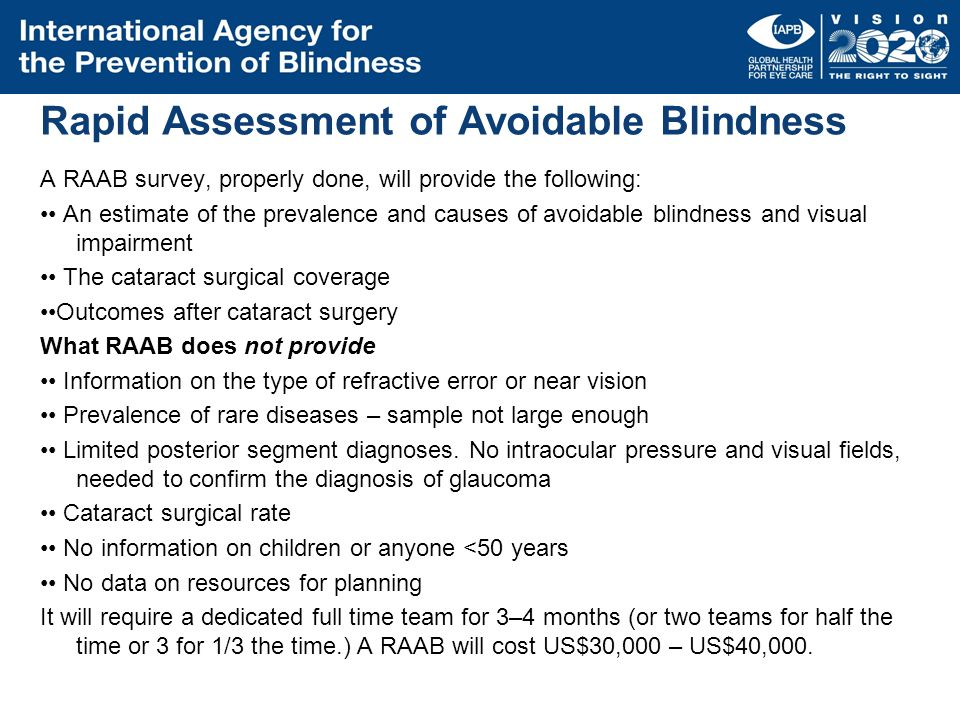 Rapid Assessment of Avoidable Blindness