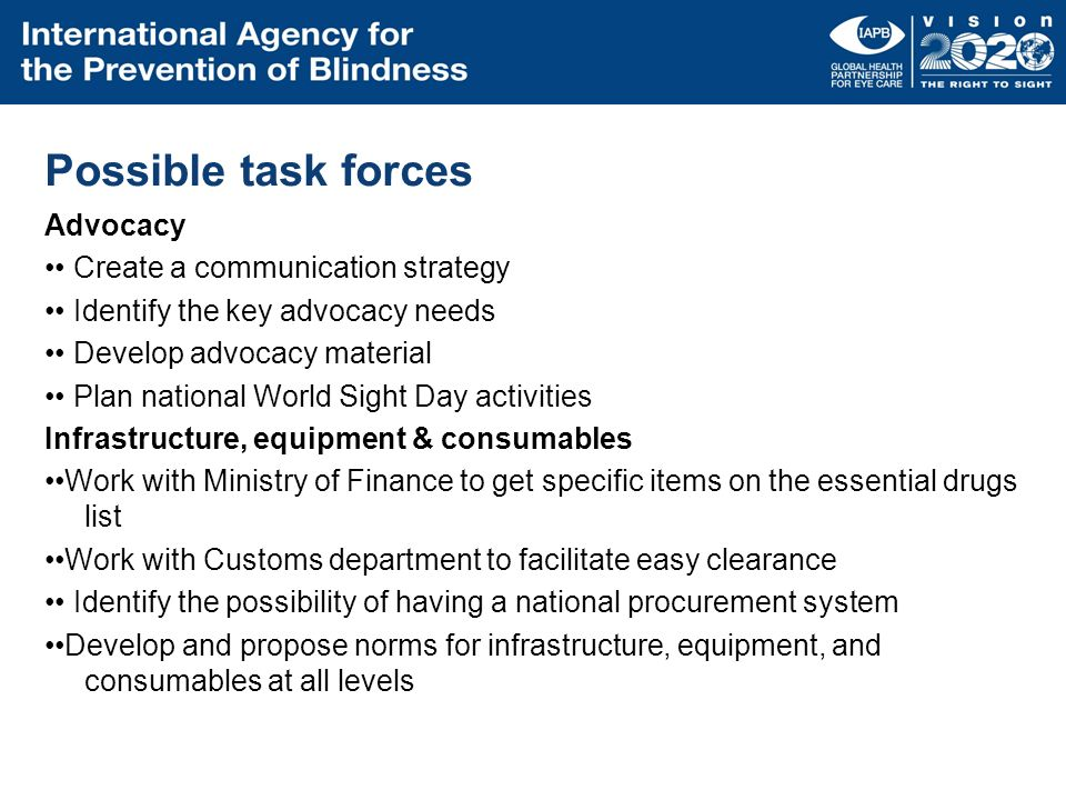 Possible task forces