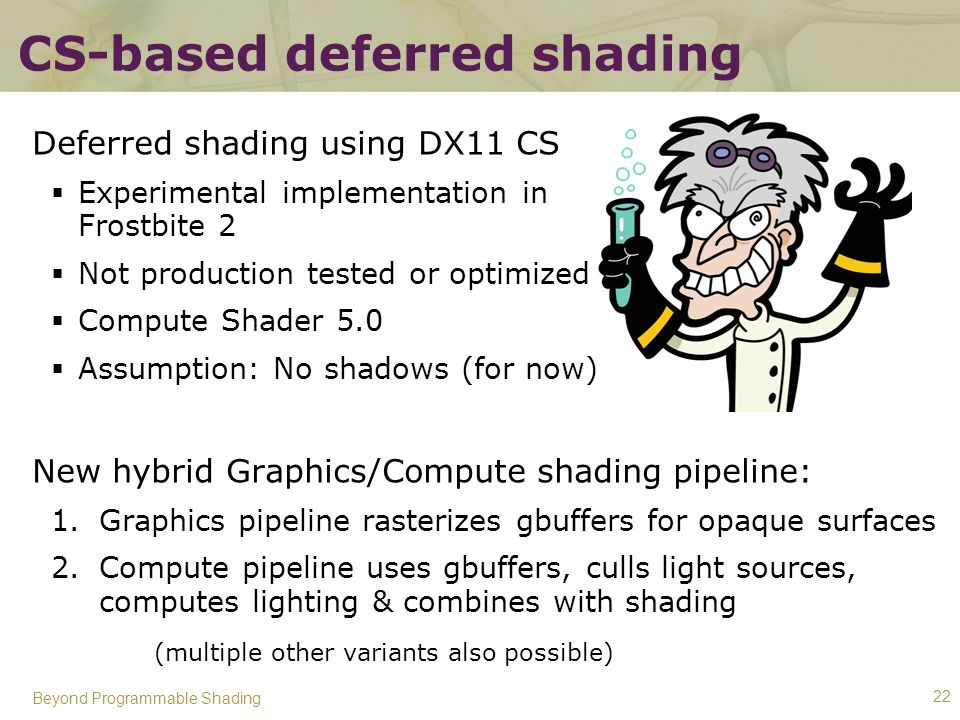 CS-based deferred shading