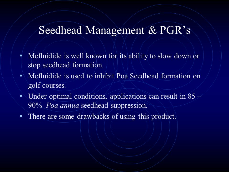 Seedhead Management & PGR's