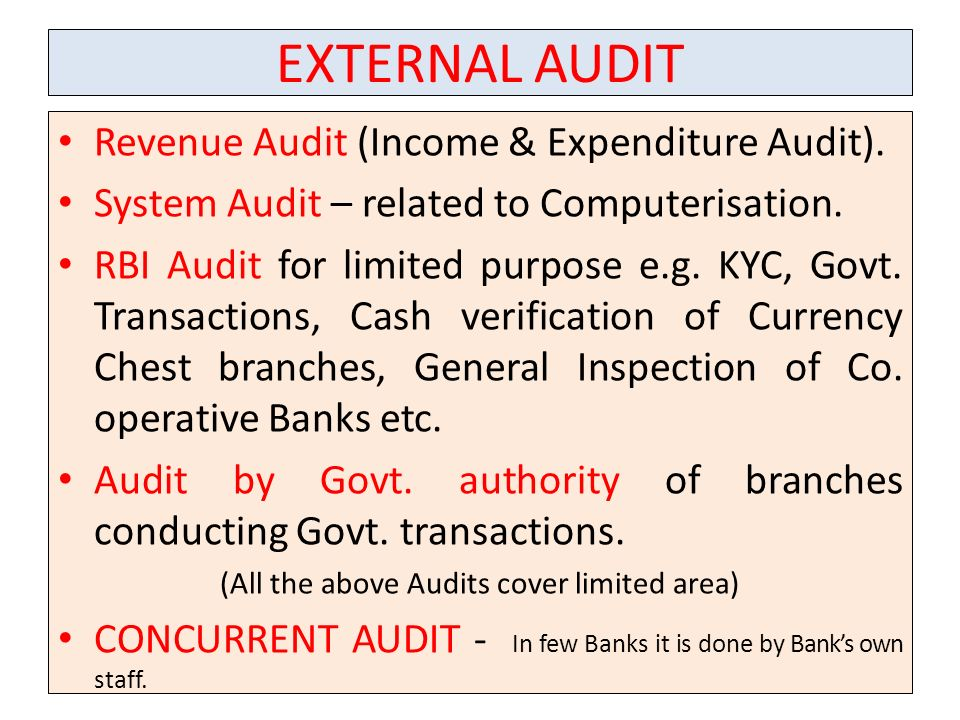 (All the above Audits cover limited area)