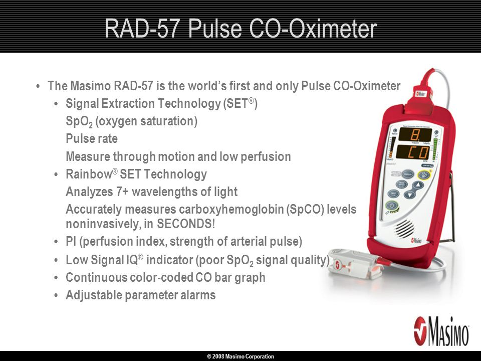 RAD-57 Pulse CO-Oximeter