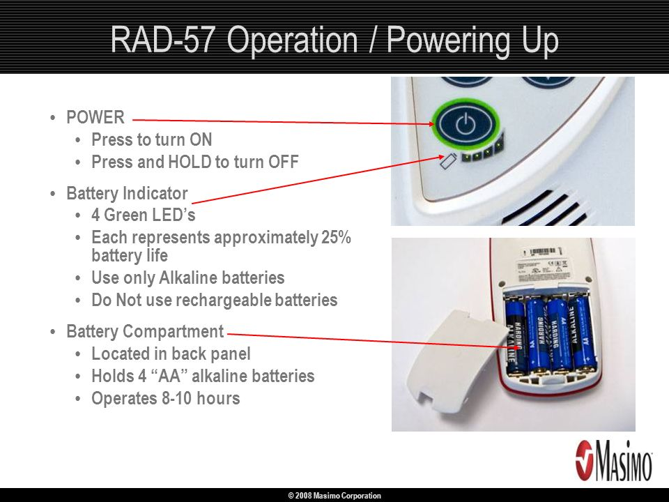 RAD-57 Operation / Powering Up