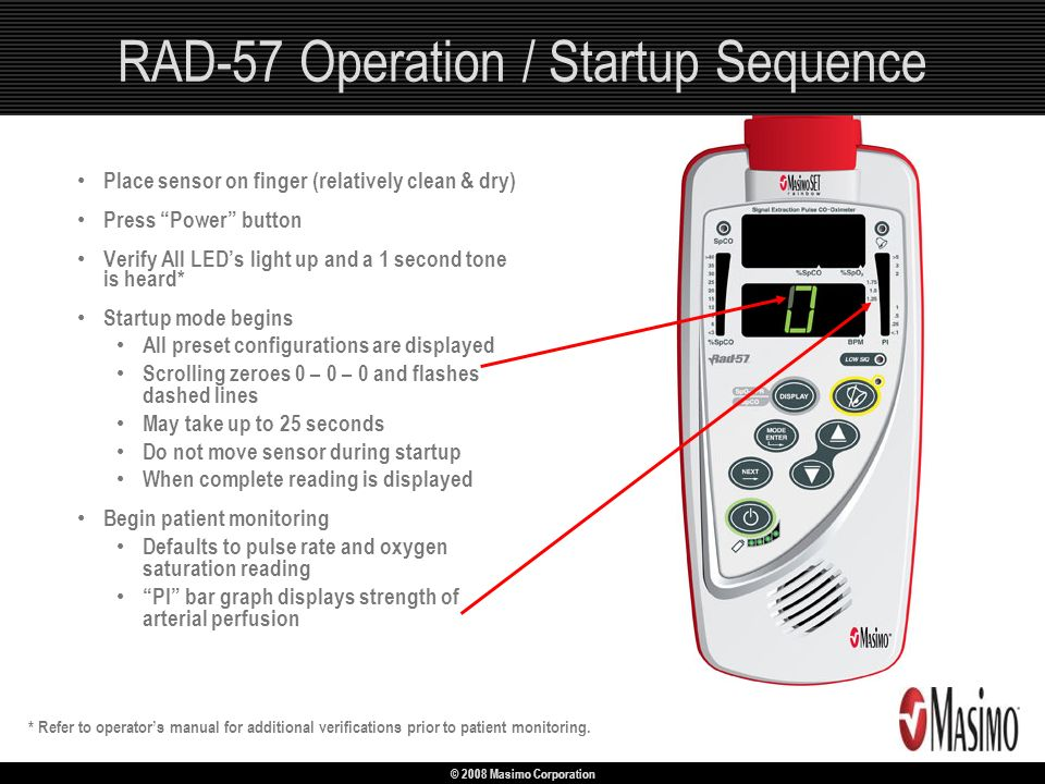 RAD-57 Operation / Startup Sequence