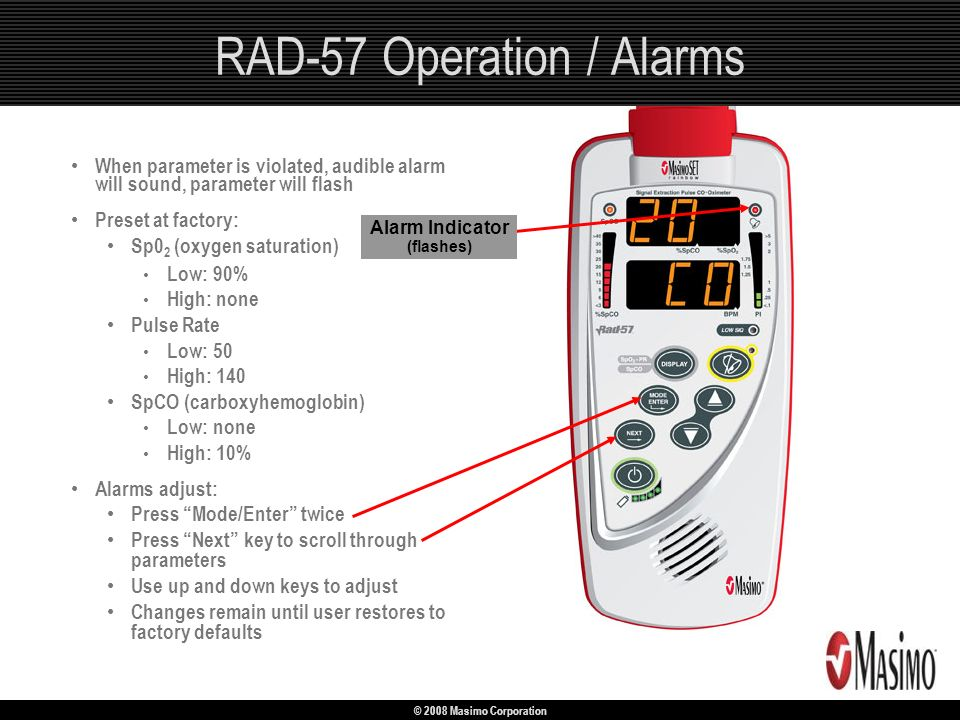 RAD-57 Operation / Alarms