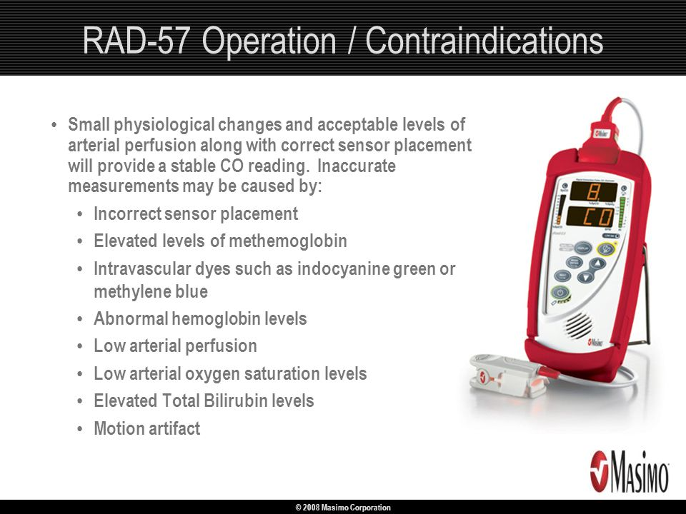 RAD-57 Operation / Contraindications