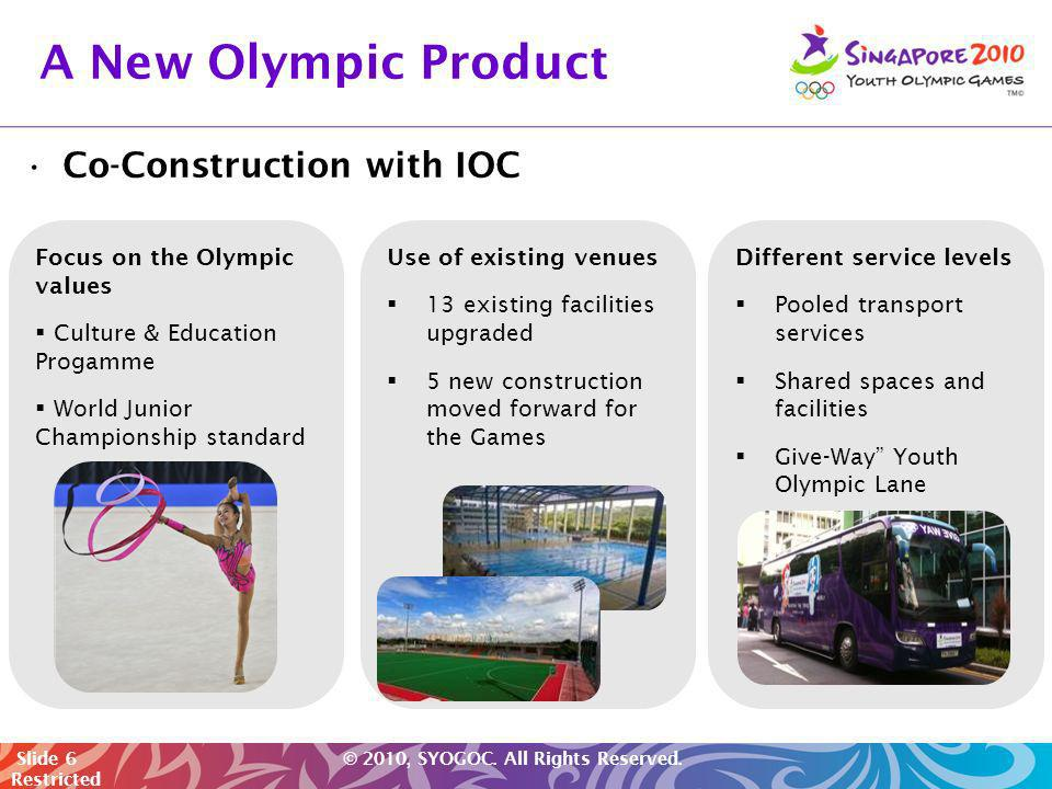 A New Olympic Product Co-Construction with IOC