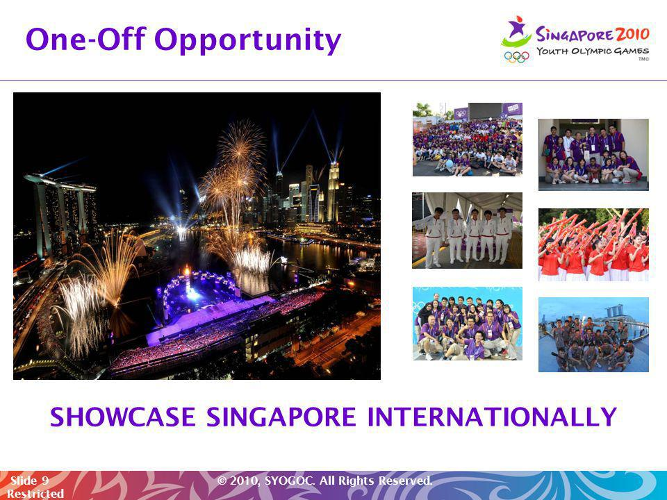 SHOWCASE SINGAPORE INTERNATIONALLY