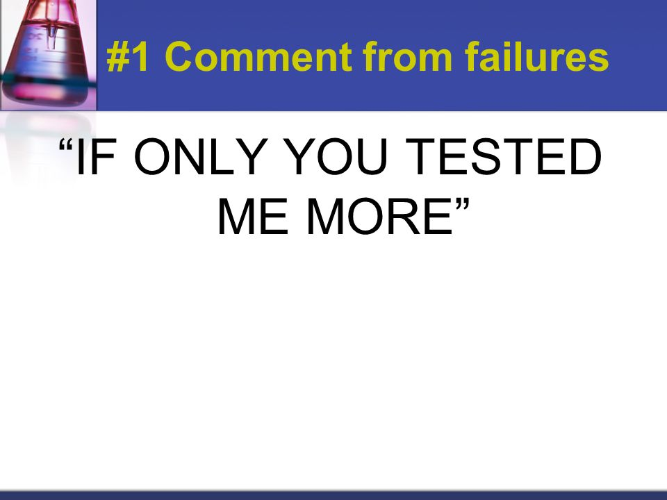 #1 Comment from failures