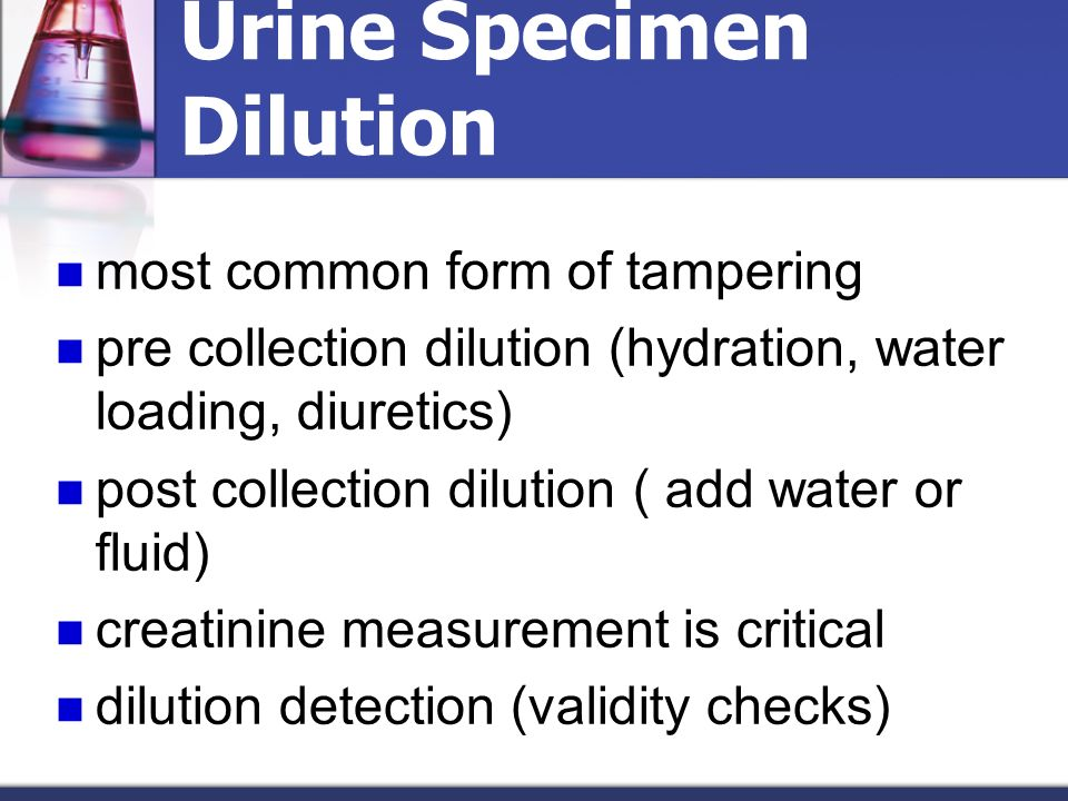 Urine Specimen Dilution