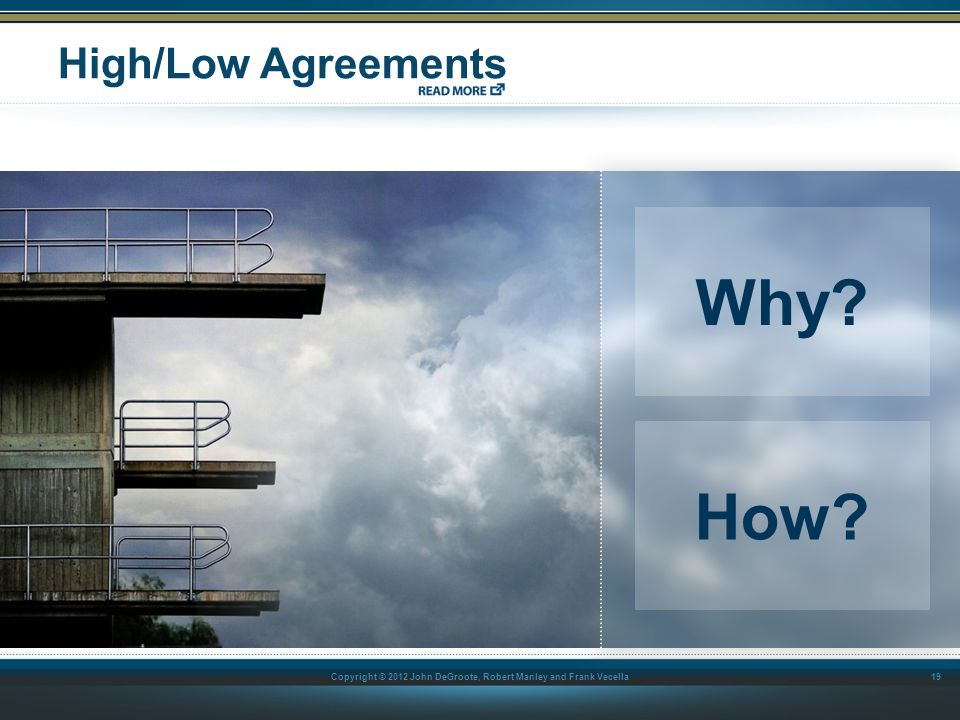 High/Low Agreements Why How