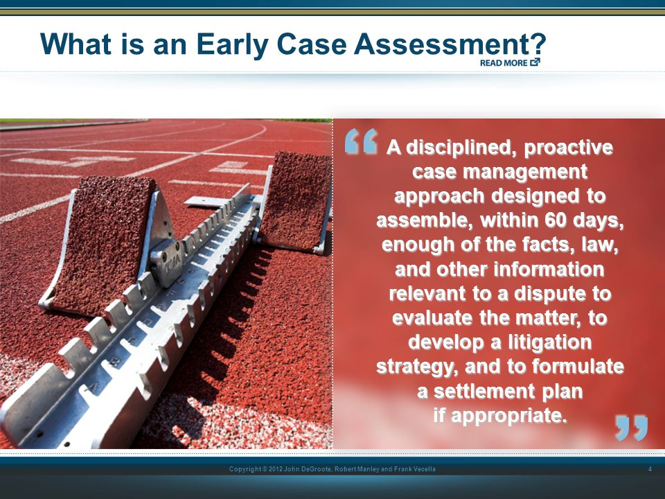 What is an Early Case Assessment