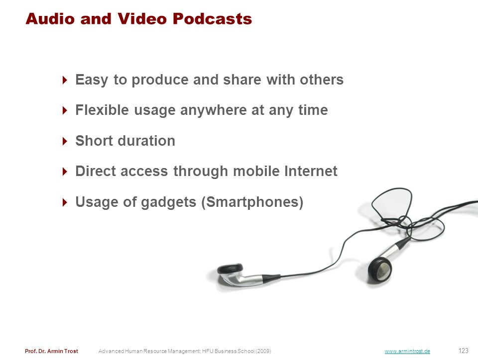 Audio and Video Podcasts