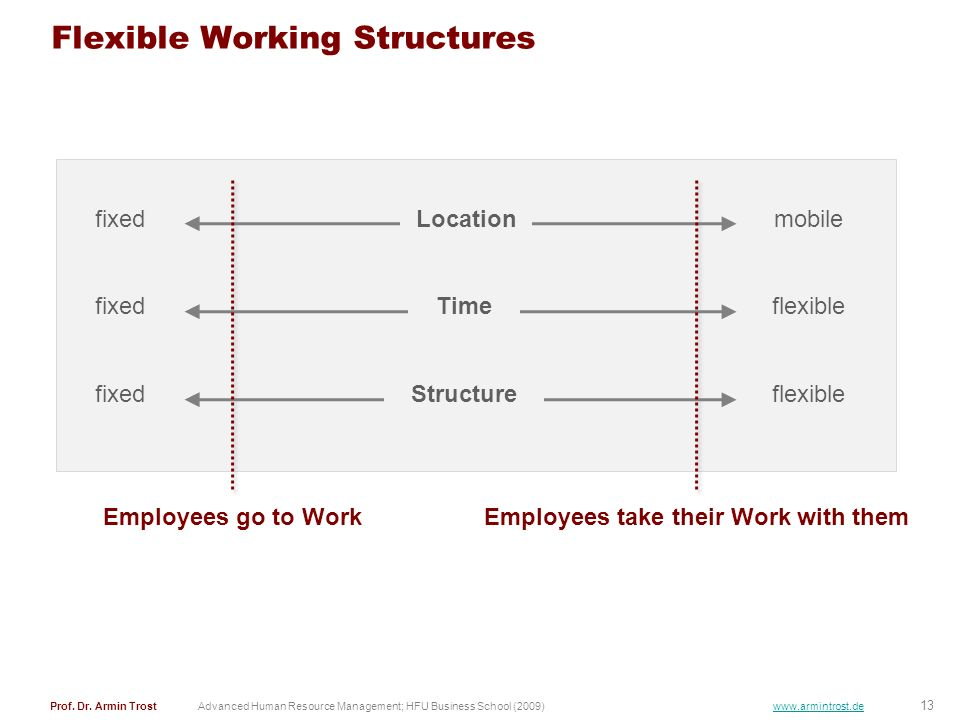 Flexible Working Structures